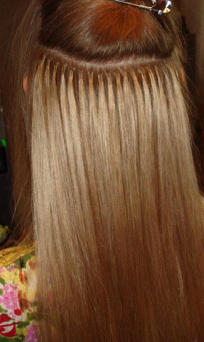 Наращивания волос итальянская технология
